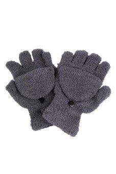 Velishy Winter Women Gloves Fingerless (Grey) - Intl