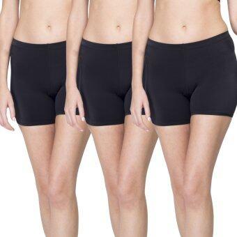Wacoal กางเกงใน Hot pants 1 เซ็ท 3 ชิ้น (สีดำ/BLACK)- WU4828BL + WU4828BL + WU4828BL