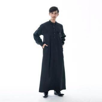 waris muslim-โต๊ปผู้ชายAB23-สีดำ