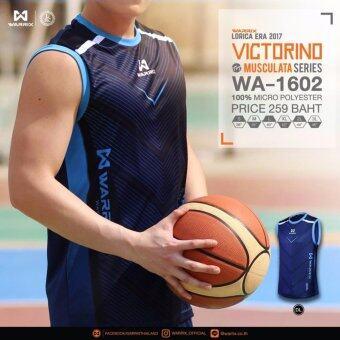 WARRIX SPORT VICTORINOเสื้อแขนกุด WA-1602-DL ( สีกรมท่า)