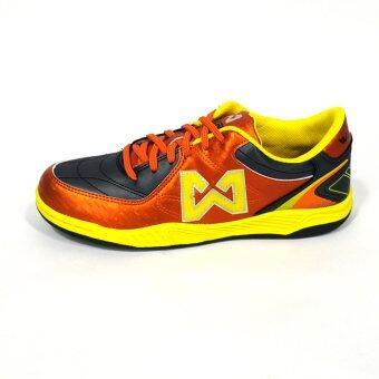 WARRIX SPORT รองเท้าฟุตซอล WF-1402 สีเทา-ส้ม