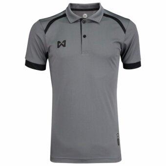 WARRIX เสื้อโปโล WA-3319-EA (สีเทา-ดำ)