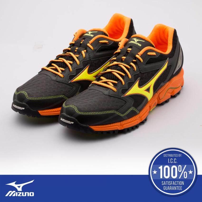 Wave Daichi 2 (รองเท้าวิ่งผู้ชาย มิซูโน่ เวฟ ไดจิ 2) สีดำ/ส้ม