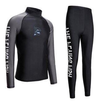 wetsuit men for surfing two piece scuba diving long sleeve sunprotection black intl 1495535478 60056802 eaa45de2d877f254083935d84d7dcf8b product ราคาต่ำที่สุด Wetsuit Men For Surfing Two Piece Scuba Diving Long Sleeve SunProtection Black