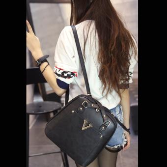 Wichu Bag กระเป๋าสะพายหลัง ผู้หญิง กระเป๋าแฟชั่น กระเป๋าเป้เกาหลีรุ่น LP-034 (สีดำ) - 5