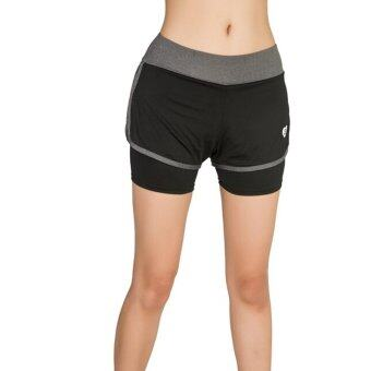 Harga Woman summer new sports fitness shorts Ladies outdoor running gymyoga speed dry shorts GRAY COLOR