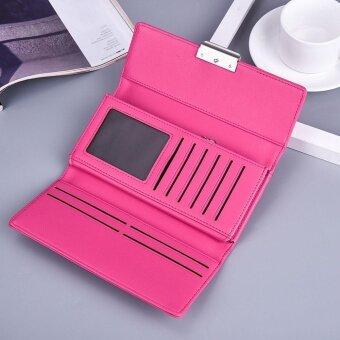 Women Fashion Leather Wallet Leisure Clutch Bag Long Purse - intl