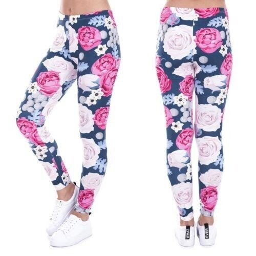 Women Sports Pants High Waist Yoga Fitness Leggings Running Gym Stretch Trousers(Floral) - intl