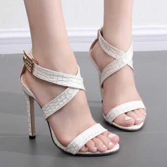Women's Sandals Leisure High Heels White - intl