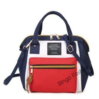 Wonderful Bingo fashion Japan Women Bag กระเป๋าสะพายข้างสำหรับผู้หญิง (Bluered)