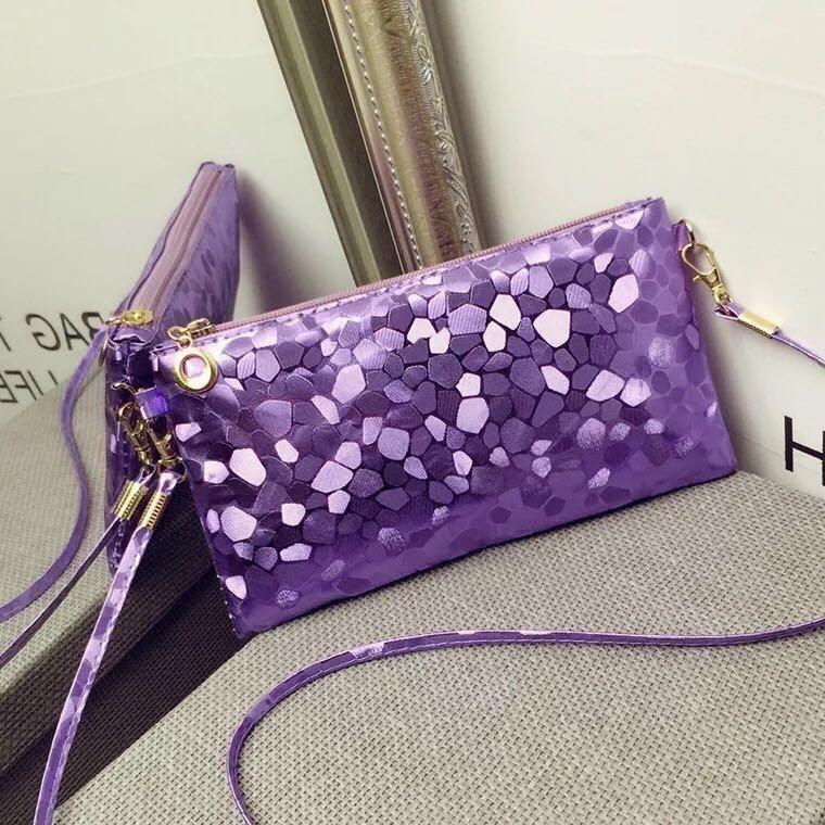 Wonderful Story กระเป๋า กระเป๋าสะพายข้างสำหรัdหญิง No.0508 - Purple