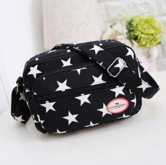 Wonderful Story กระเป๋าสะพายข้าง กระเป๋าเป้ผ้าไนลอน รุ่น T25 -(BLACK)