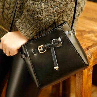 Wonderful story กระเป๋าสะพายข้าง กระเป๋าเป้ผ้าไนลอน รุ่น TJ03-(Black)