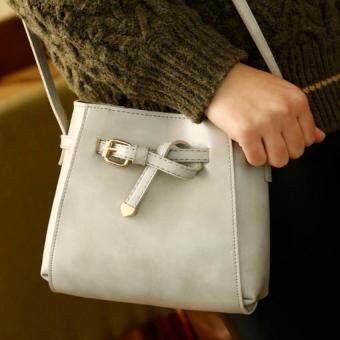 Wonderful story กระเป๋าสะพายข้าง กระเป๋าเป้ผ้าไนลอน รุ่น TJ03-(Grey)