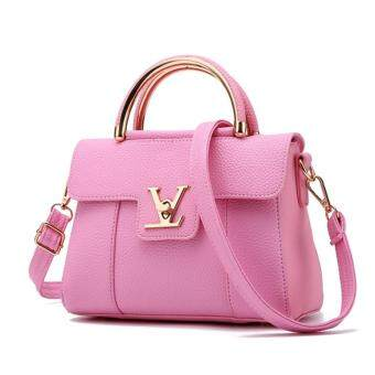Wonderful story กระเป๋าสะพายข้าง กระเป๋าเป้ผ้าไนลอน V2- (Pink)