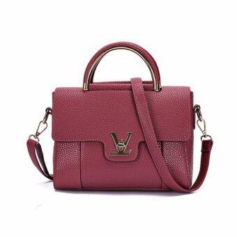 Wonderful story กระเป๋าสะพายข้าง กระเป๋าเป้ผ้าไนลอน V2- (Purple)
