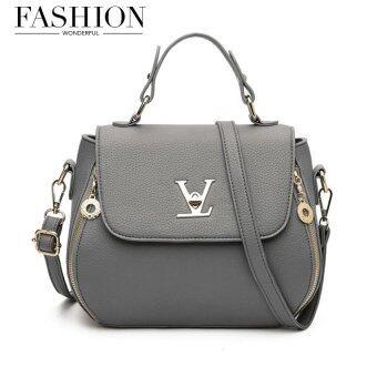 Wonderful story กระเป๋าสะพายข้าง กระเป๋าเป้ผ้าไนลอน V3-(Grey)