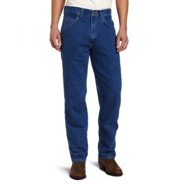 Wrangler Mens Big Rugged Wear Stretch Jean,Stonewashed,46x28 - intl