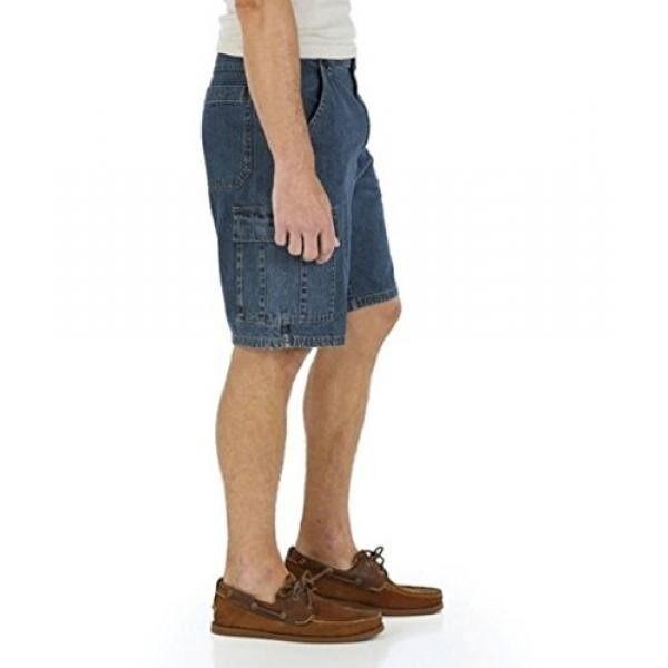 Wrangler Mens Denim Cargo Short (48, Medium Stone) - intl