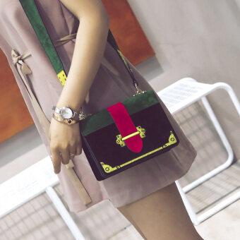 Xinyi Shishang แพคเกจเดียวกันวรรคเคลือบหนังกระเป๋าสะพายไหล่ (สีเขียว)