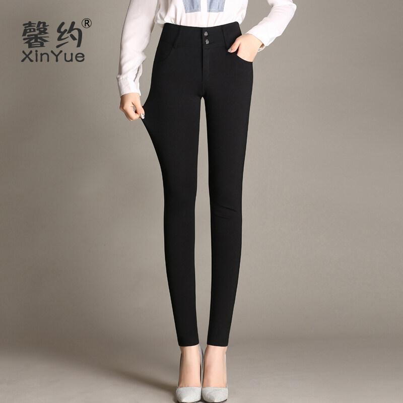 Xinyue สบาย Simiandan หลาใหญ่เป็นเพศหญิงบางกางเกง bottoming กางเกง (สีดำกำมะหยี่ [ไม่])