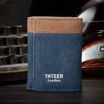 YATEER Canvas Man Brand Wallets Men Purses Card Holder