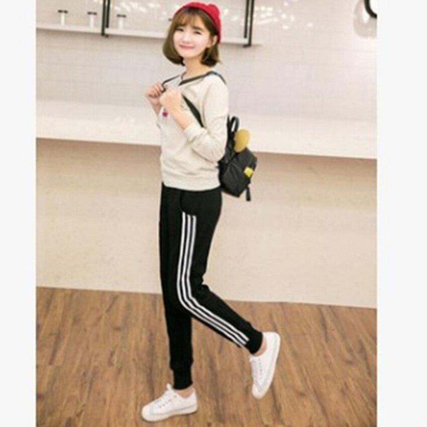 YingWei Fashion Girls Ladies Casual Harlan Pants Female Loose Cotton Sports Pants Slim Sweatpants Long Trousers(Black) - intl