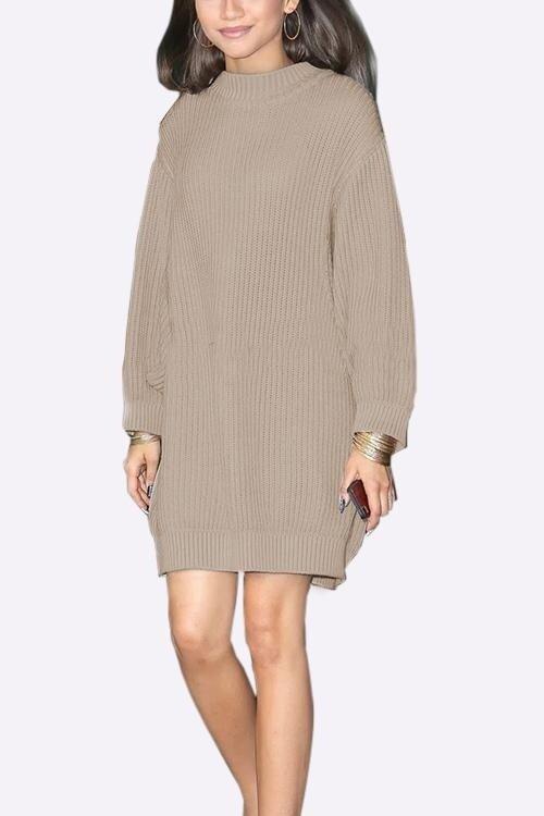 Yoins Women Fashion Clothing Casual Long Sleeve Round Neck Loose Fit Khaki Shirt Top - intl