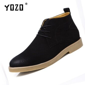 Harga Yozo Men Shoes New Style England Style Comfortable Breathable WorkShoes Fashion Tide Men Martin Boots(Black) - intl