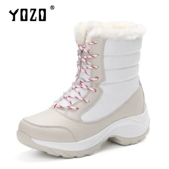 Yozo Women Shoes Casual High Top Snow Boots Comfortable PU Trend With Cotton High Quality Women Fashion Boots - intl