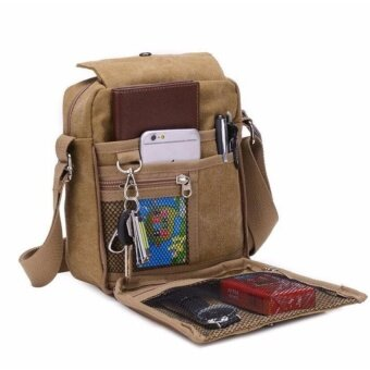Harga YSLMY Multi-Function Cyber Men Messenger Bags Canvas Vintage Bag Men Shoulder Crossbody Bags Outdoor Travel Bag - intl