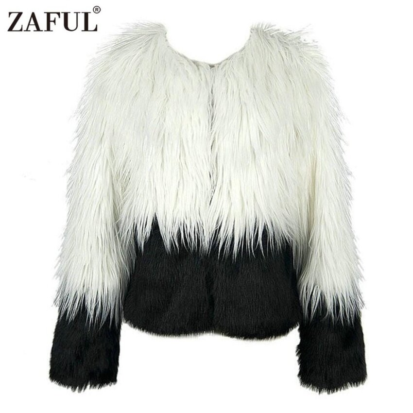 Zaful Woman Elegant Faux Fur Coat Women Fluffy Warm Long Sleeve Bump-Color Female Outerwear Chic Autumn Winter Coat Jacket Hairy Overcoat - intl