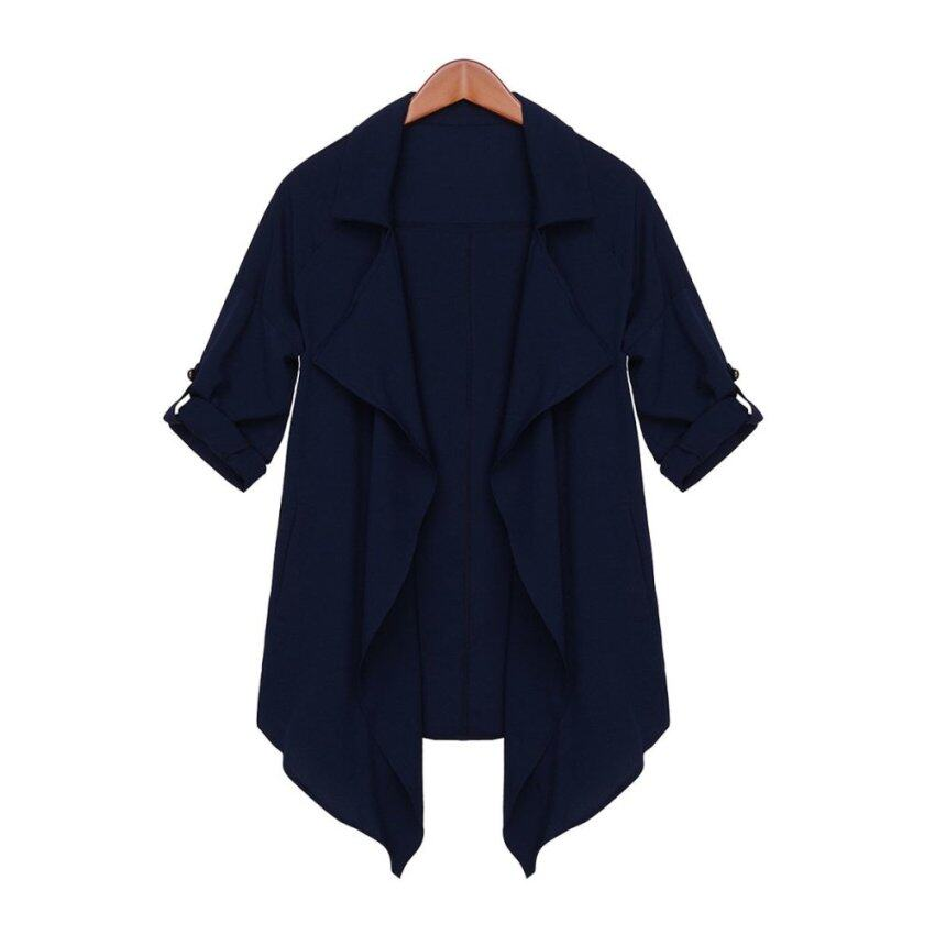 ZANZEA New Large Size Women Loose Suit Sun Protection Clothing Lapel Cardigan
