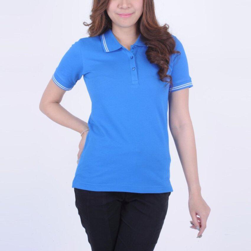 Zentury Max เสื้อโปโลผู้หญิง รุ่น LKP01002-BLU สีฟ้า