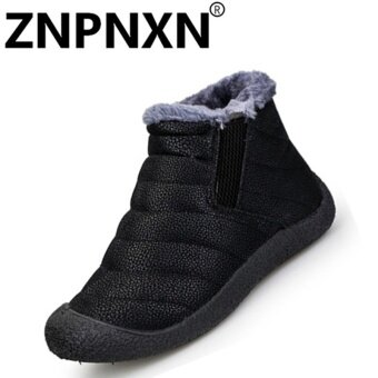 ZNPNXN Fashion Autumn And Winter New Women'S Cotton Shoes Omen'SCasual Shoes (Black) - intl