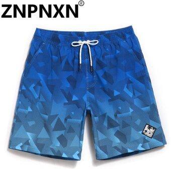 ZNPNXN Fashion Men's Beach Board Shorts Bermuda Mens Swimwear Swimsuits Boardshorts Quick Dry Workout Cargo Boxer Trunks Shorts - intl