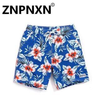ZNPNXN Fashion Mens Beach Shorts Trunks Swimwear Men's Board Shorts Casual Nylon bermudas masculina marca boardshorts Fast Dry(Blue) - intl