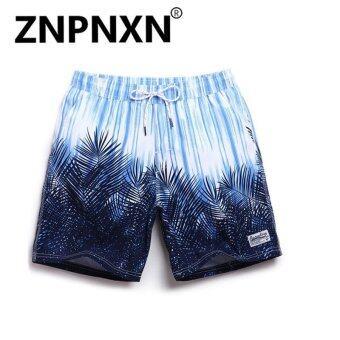 ZNPNXN Fashion Men's New beach board shorts quick dry fashion leisure casual active shorts sea board boardshorts(Blue) - intl