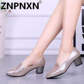 ZNPNXN Fashion New Shallow Shoes Ladies With Dance Shoes(Gold) - intl