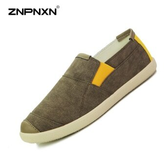 Harga ZNPNXN Men'S Shoes Fashion Trends Canvas Shoes Men'S Shoes Comfortable Breathable Canvas Shoes(Brown) - intl