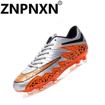 Harga ZNPNXN Men'S Professional Sports Shoes Sports Soccer Shoes (Silver)- intl