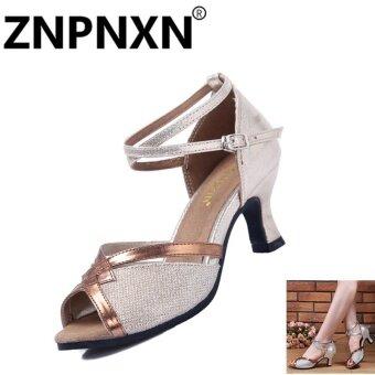 ZNPNXN New Adult Latin Dance Shoes Summer Ladies Dance Shoes With Modern Music Dance Shoes(Gold) - intl