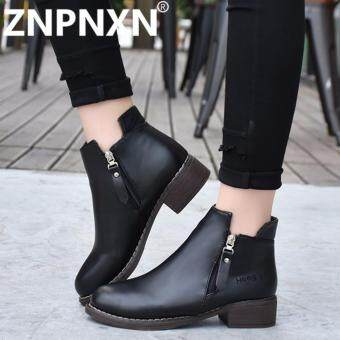 ZNPNXN Women Boots Fashion Autumn And Winter New Comfortable Breathable Boots (Black) - intl