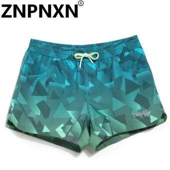 ZNPNXN รองเท้าสตรีแฟชั่นกางเกงขาสั้นชายหาดกางเกง Casual Bottoms แฟชั่น PLUS ขนาดใหญ่แห้งเร็วฟิตเนส Jogger Boxer Trunks ชุดว่ายน้ำ