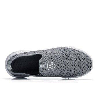 ZOQI Men's And Women's Fashion Light Mesh Breathable Casual ShoesSneaker (Grey) - intl - 3