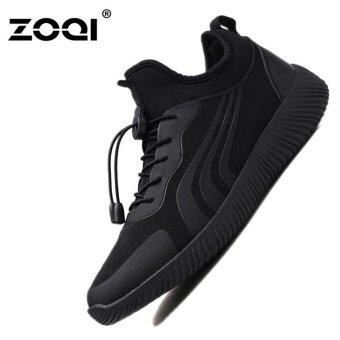 Harga ZOQI Men's Fashion Shoes Sneakers Lightweight net sportsshoes(Black) - intl