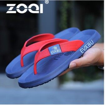 ZOQI Sandals New Brand Flip Flops Beach Slippers For Men And Women Summer Shoes Flat Sandals Men Flip Flops(BlueRed) - intl