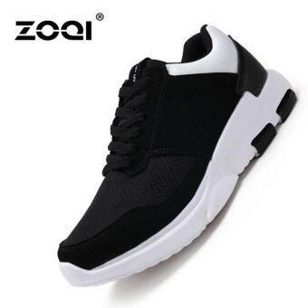 Harga ZOQI Soft Bottom Running Shoes Fashion Sneaker(White) - intl