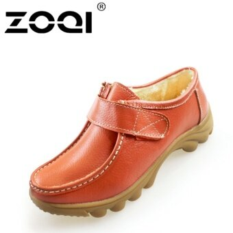 ZOQI Women Cotton Shoes Flat Shoes(Orange) - intl