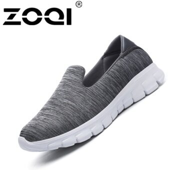 ZOQI Women Fashion Confortable Flat Shoes Loafer(grey) - intl